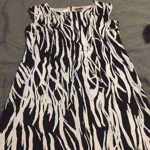 Black and white Midnight Velvet dress